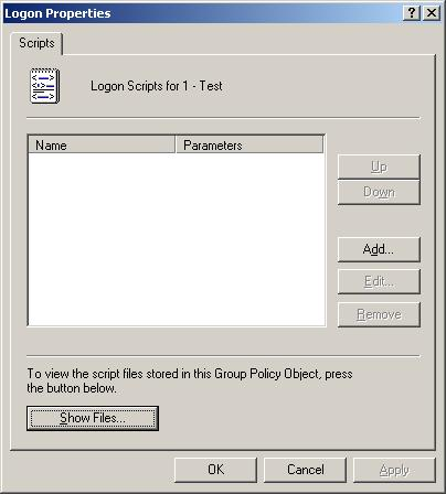 Group Policy Editor - Logon Properties
