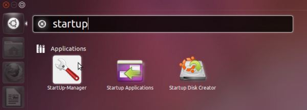 "Open Dash Home, type ""Startup"" in the search box and open StartUp-Manager"