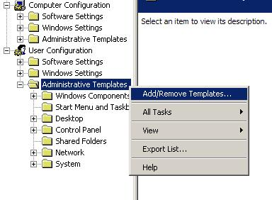 Add administrative templates