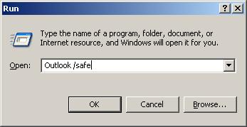Start Outlook in Safe Mode