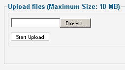 Joomla Media Manager default Upload Limit is 10MB