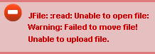 JFile: :read: Unable to open file: