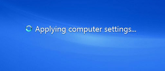 Windows 7 boot - Applying computer settings...