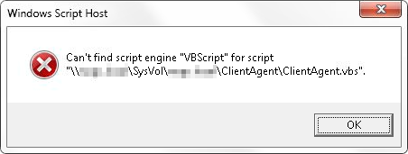 "Windows Script Host error - Can't find script engine ""VBScript"""