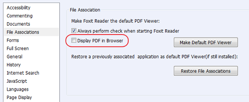 Foxit Reader - Display PDF in Browser
