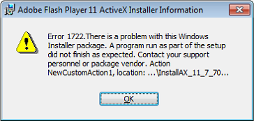 Adobe Flash Player 11 ActiveX Installer Information
