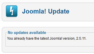 You already have the latest Joomla! version