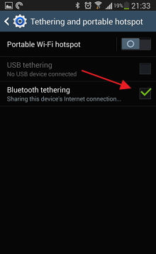 Samsung Note 3 > Connections > Tethering and portable hotspots