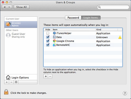 MAC OS X - Users and Groups