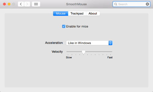 Mac Smooth Mouse