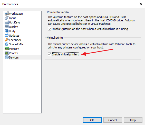 VMware Workstation Preferences