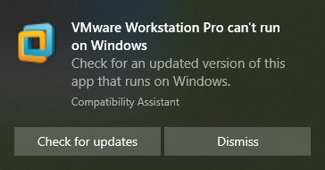VMware Workstation Pro can t run on Windows