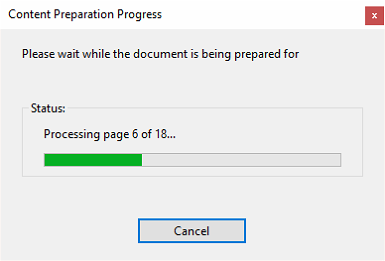 Please wait while the document is being prepared for